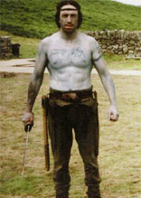 Norman Kelly  on the set during the filming of King  Arthur